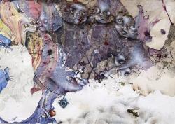 marlene-mocquet-avance-masque-14-5x21cm-2015-email-a-froid-huile-inclusion-d-une-goutte-d-email-poussiere-colle-crayon-de-couleur-b8e6bb52f12110ec7001e9f519101488