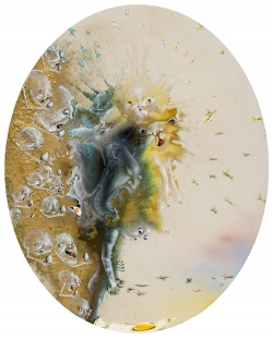 marlene-mocquet-l-oeuf-au-plat-comme-un-mirroir-162x130x5cm-resine-vinylique-pigments-encre-glycero-huile-bombe-pailletee-2013-1210-2e5924d7db8b4a083f40d3963020baa4