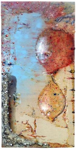 marlene-mocquet-le-contenant-du-sablier-195x97cm-2014-email-a-froid-resine-epoxy-poussiere-huile-acrylique-bombe-aerosol-440ae0f8988d31906f15a57414d9dcd0