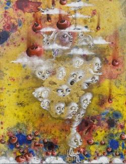 marlene-mocquet-le-fruit-des-pensees-defendues-35x28cm-2013-email-a-froid-huile-acrylique-6140b0c5752be4e8922b9607a54aee5a